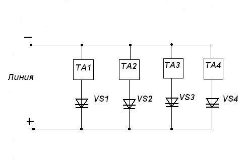 Где: VS-динисторы марки КН102А